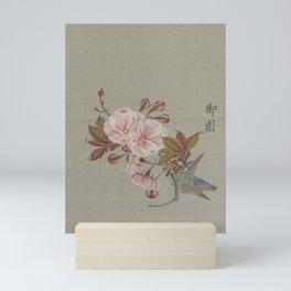 Cherry Blossoms JAPANESE SAKURA Bird Art Waka Haiku Antique Japan Flowers Nature Mini Art Print