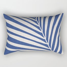 Indigo Palm - Vintage Botanical Rectangular Pillow