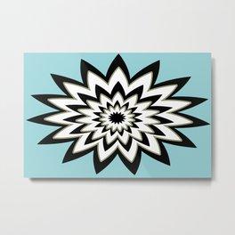 Black and White Geometric Shape Metal Print