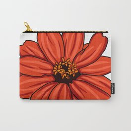 Red Zinnia Flower Carry-All Pouch