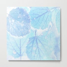 Blue autumn leaves Metal Print
