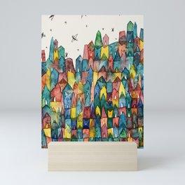 All the Colorful Houses Art Print Mini Art Print