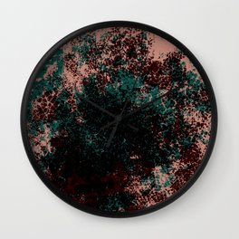 Linea - Abstract Colorful Decorative Boho Chic Style Pattern Wall Clock