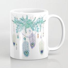 Peacock And Eucalyptus Crystal Spirit Gazer Coffee Mug
