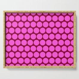 Pink Circus Dots Serving Tray