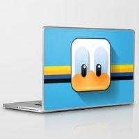 donald duck Laptop & iPad Skins featuring donald duck by designoMatt