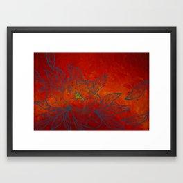 Sea Blue Peony Framed Art Print
