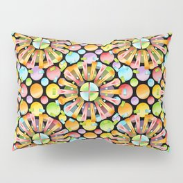 Candy Rainbow Mandala Pillow Sham