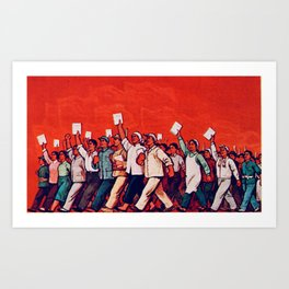 RED REVOLUTION Art Print