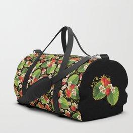 Strawberries Botanical Duffle Bag