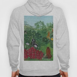 "Henri Rousseau ""Tropical Forest with Apes and Snake"", 1910 Hoody"