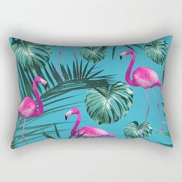 Tropical Flamingo Pattern #4 #tropical #decor #art #society6 Rectangular Pillow