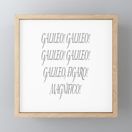 Galileo Figaro Framed Mini Art Print