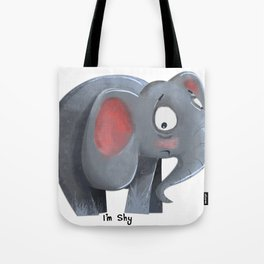Elly the Shy elephant Tote Bag