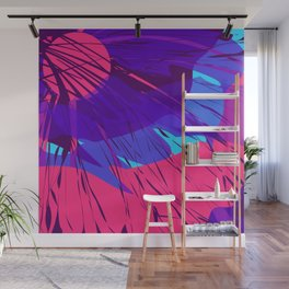 Night Sky Spilling on Earth Purple Abstract Wall Mural