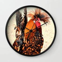 Rooster Photo 136 Wall Clock