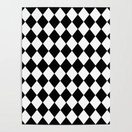 HARLEQUIN BLACK AND WHITE PATTERN #2 Poster