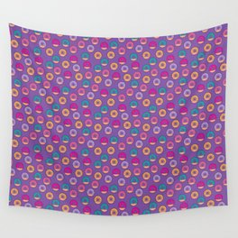 Donut Pattern Wall Tapestry