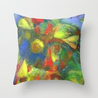 clown Throw Pillows featuring Clown by Nato Gomes