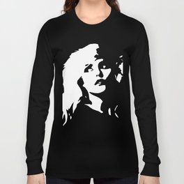 Blondie, Music Legend, Black, White, Cinema, Art, Author, Song Writer, Musician, Punk, Long Sleeve T-shirt