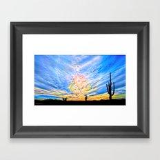 Sun Dogs and Desert Visions III Framed Art Print