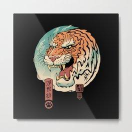 Tiger Ukiyo-e Metal Print