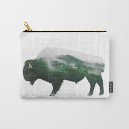 Bison double exposure Carry-All Pouch