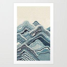 Mountains graphic design Art Print