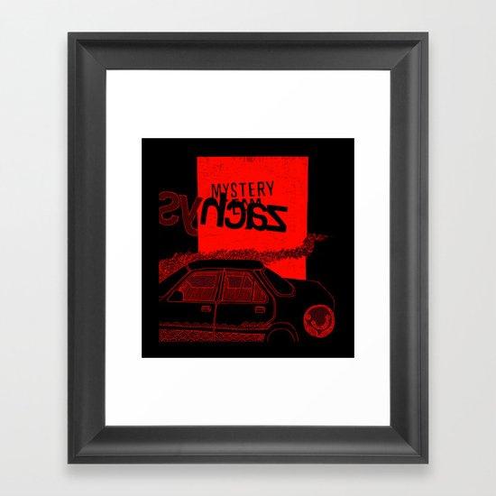 """syhcaZ"" - {cyan} Urban Series #1 Framed Art Print"