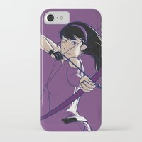 kate bishop iPhone & iPod Cases featuring Kate by Charleighkat