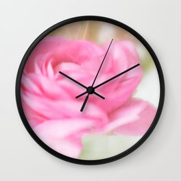 Vintage Pink Glory Wall Clock