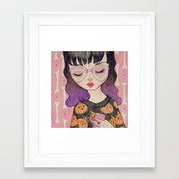 loll3 Framed Art Prints featuring Pumpkin by lOll3