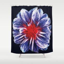 dark circle flower Shower Curtain