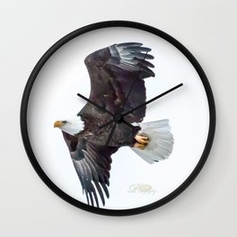 Eagle soaring Wall Clock