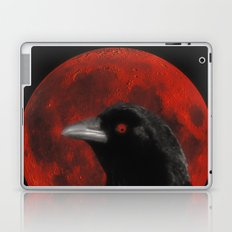 Crow And The Red Glow Moon Laptop & iPad Skin