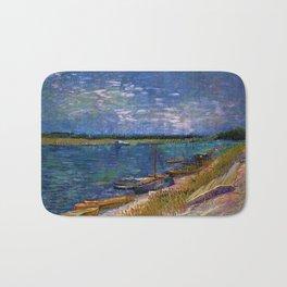Moored Boats Côte d'Azur by Vincent van Gogh Bath Mat