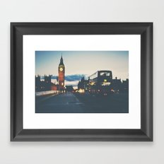 the night bus ...  Framed Art Print