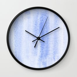 Blue lake watercolor design Wall Clock