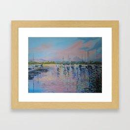 Pink sunrise over Windermere Framed Art Print