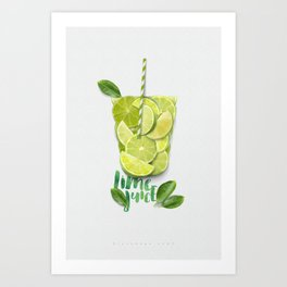 When life gives you lime Art Print