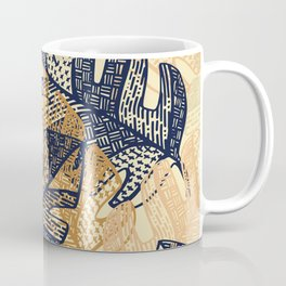 jungle tangle – navy, blush, gold Coffee Mug