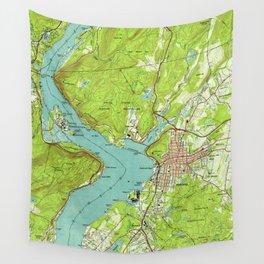 Vintage Map of Peekskill New York (1947) Wall Tapestry