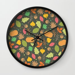 Thanksgiving pattern Wall Clock