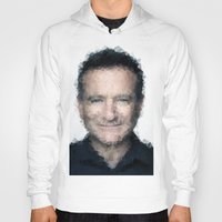 robin williams Hoodies featuring Robin Williams by lauramaahs