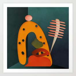 shapes illustration abstract art Art Print