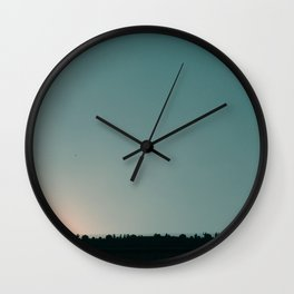 Blue skies are coming Wall Clock