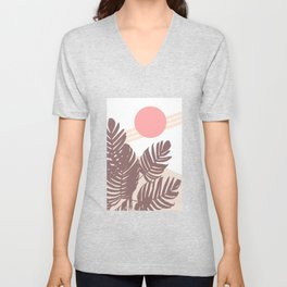 Palm Leaves with Sun Unisex V-Neck