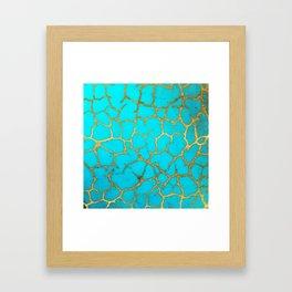 Turquoise Stone Framed Art Print