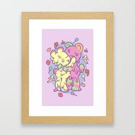 Beary Kisses Framed Art Print