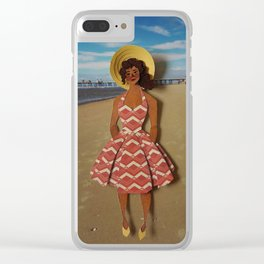 seaside adventures: gwen II Clear iPhone Case